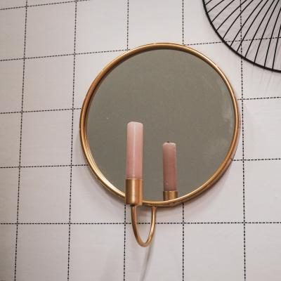 Kerzenhalter mit spiegelrundem Gold
