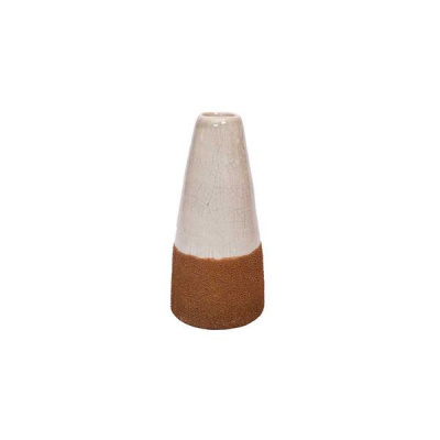 Keramik Vase -Weiß Kupfer