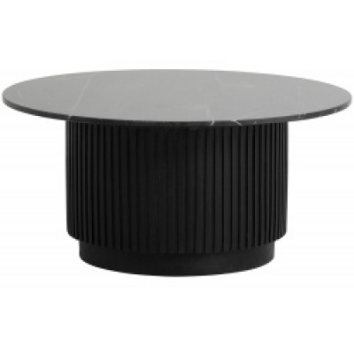 ERIE round salontafel zwart marmeren blad