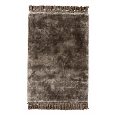 NOBLE warm grijs tapijt met franjes