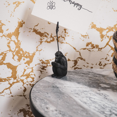Affen Kartenhalter-4x15x4 cm-schwarz