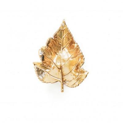 Gouden Schaal - Blad 21x18x4,5cm