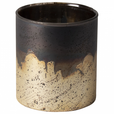 Teelichthalter Kupfer / Silber Ø10x10