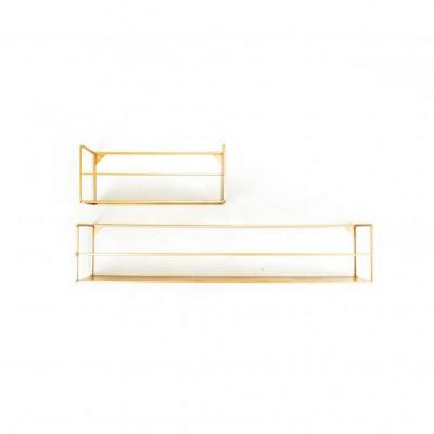 Set van 2 wandplanken-Metaal-Goud