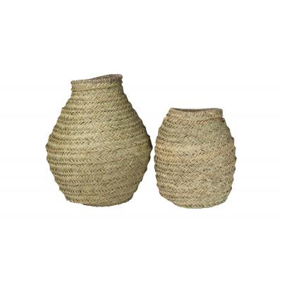 Essaouira-Vase Seagrass Naturel L