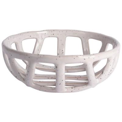 Decoschaal keramiek ø20.5cm wit