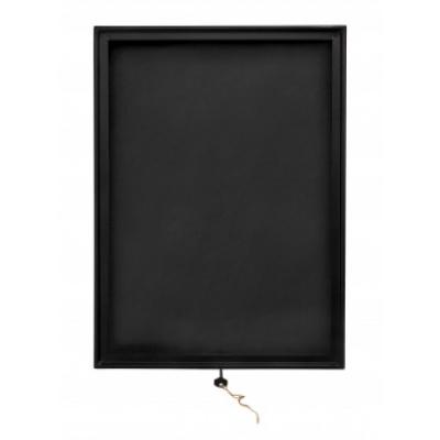 Schwarz-Quadrat-Displaykasten, Metall / Glas