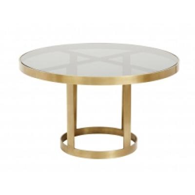Luxe Round Salontafel, Gouden / Zwart