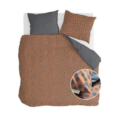 Dekbedovertrek Spots & Dots Cognac - 240x220 cm