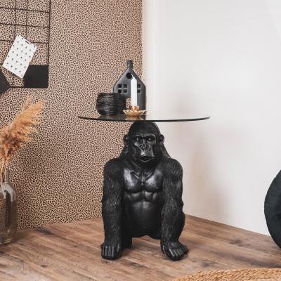 Gorilla-Tisch mit Glasplatte - schwarz