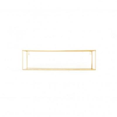 Wandplank -Rechthoek -Goud-55x13x15cm
