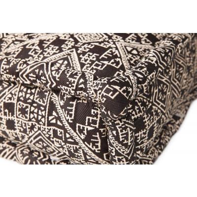 Lounge Matras Marokko Zwart,Wit 80x80x15