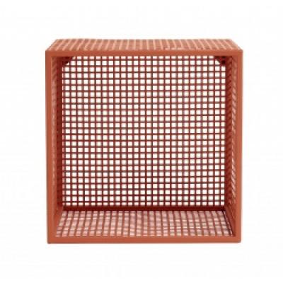 Wire Box Voor Wand-, Terracotta, S