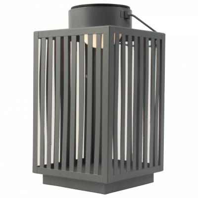 Metalllaterne mit LED-Grau