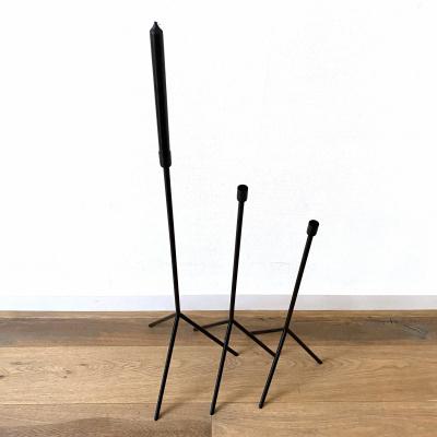 Boden Kerzenständer Schwarz - 90cm