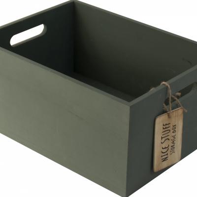 Houten kistje 30x22cm Groen
