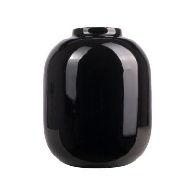Vaas metaal ø16.5x21cm zwart