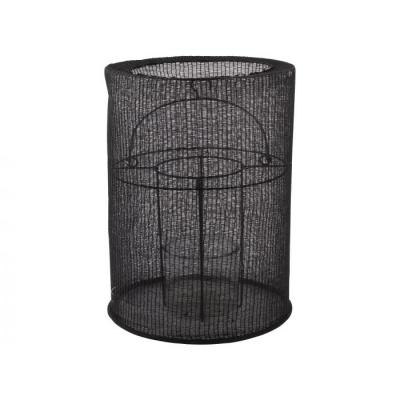 Lantaarn katoen ø20x29cm zwart
