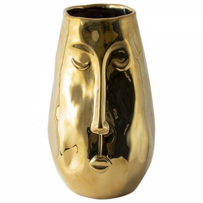 Goldener Vase mit Gesicht H245cm