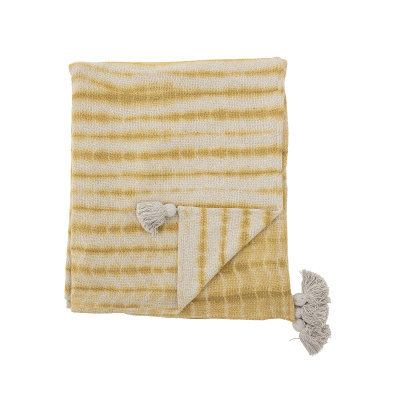Decia bedspread geel gerecycled katoen