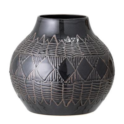 Cornelius vaas zwart steengoed