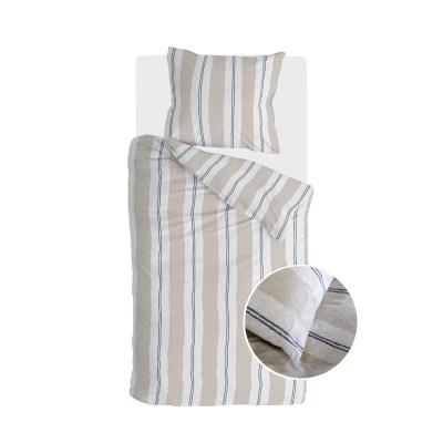 Bettbezug der Bettdecke Remade Nautic Stripes Sand - 135x200 cm