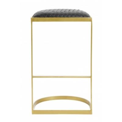 EA-Bar-Stuhl, schwarz weben / golden