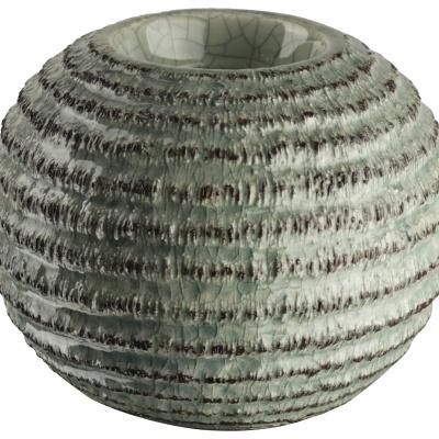 Teelichthalter Ø106x8cm grün / braun