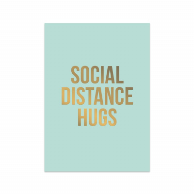 Wenskaart - Social Distance Hugs