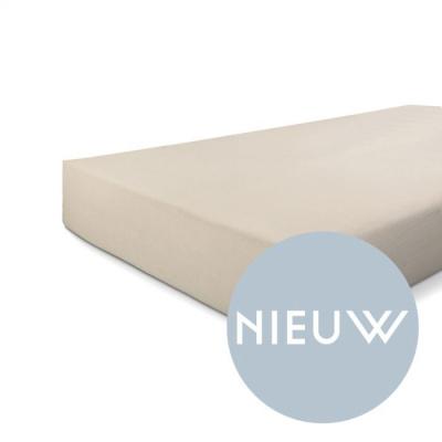 Hoeslaken Jersey Stretch Zand - 160x200/210 cm