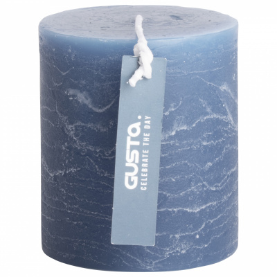 Rustikale Kerze Ø68x8cm blau