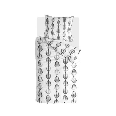 Bettbezuglinien & Bindestriche Anthrazit / Weiß - 155x220 cm