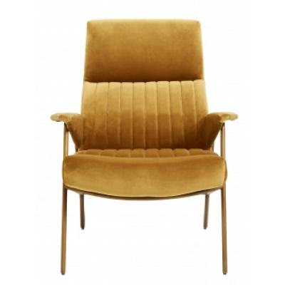 IBEX stoel fluweel mosterd