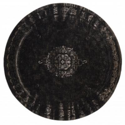 Grandgewebter Teppich dunkelgrau / schwarz