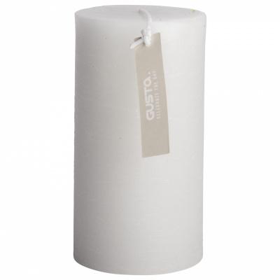 Rustikale Kerze Ø68x13cm weiß / grau