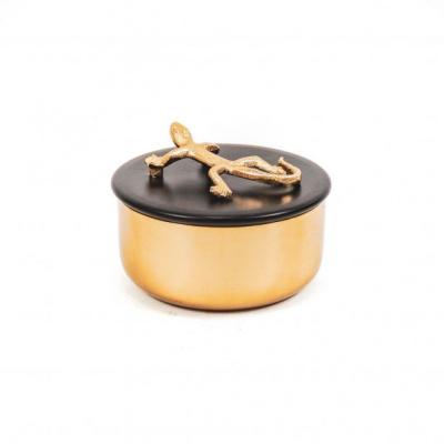 box Salamander -Goud/Zwart-14x10cm