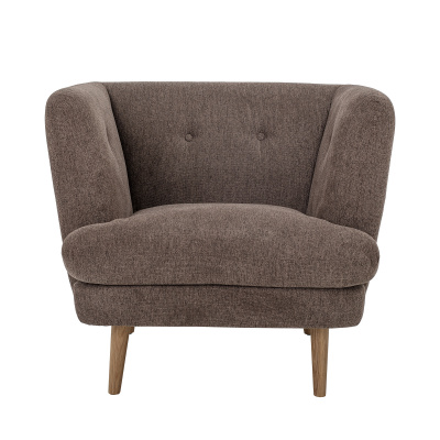 Elliot Lounge Chair Brown Polyester