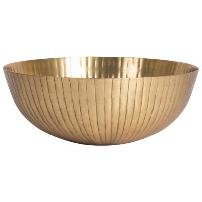 Decoschaal ø25.5x10cm goud