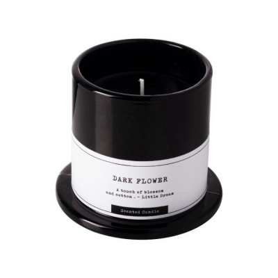 Geurkaars dark flower ø7x8cm zwart
