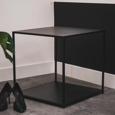Zwart metalen bijzettaffel-50x50x50cm