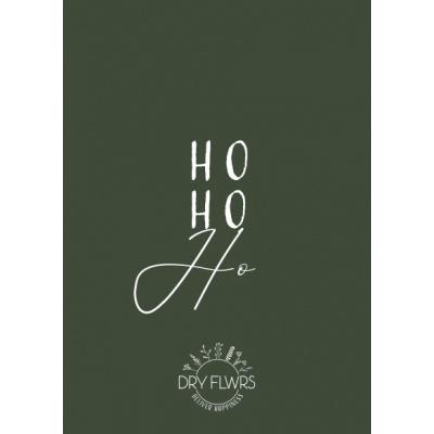 Kerstkaart - Ho Ho Ho