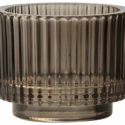 Gla-Teelichthalter Ø9x7cm braun