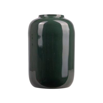 Vaas metaal ø11.5x18.5cm groen