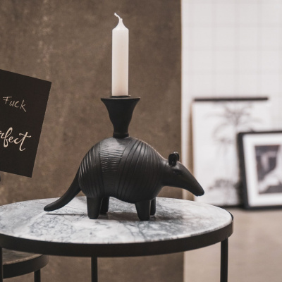Anteater Candlestick-Black -22x16.5x22cm