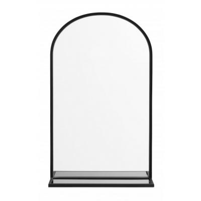 Pirol Spiegel W. Zwart Glas Shelf