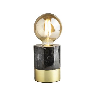 Tischlampe LED Ø9x12cm Marmor schwarz