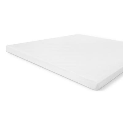 Molton Baumwollabdeckung topper weiß - 160x220 cm