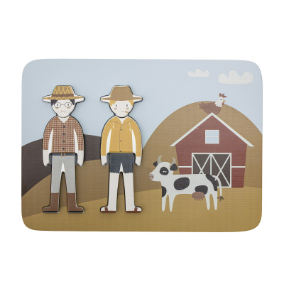 Dylan Puzzle Brown MDF