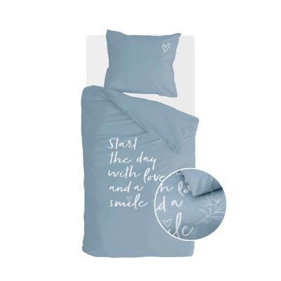 Bettbezug Lächeln mit Liebe Jeans Blau - 140x220 cm
