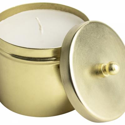 Kerze Ø82x8cm Gold.